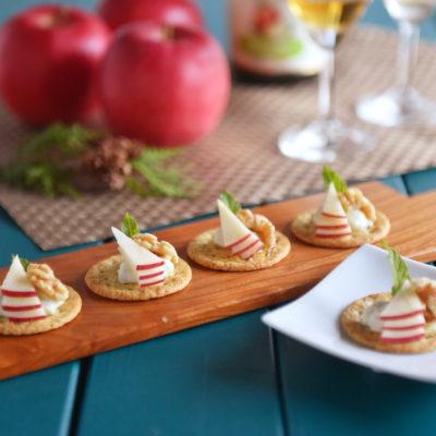 りんごのレシピ りんごとブルーチーズのカナッペ