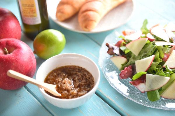 りんごのレシピ りんごドレッシングのサラダ