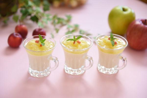 りんごのレシピ りんごと豆乳のチーズムース