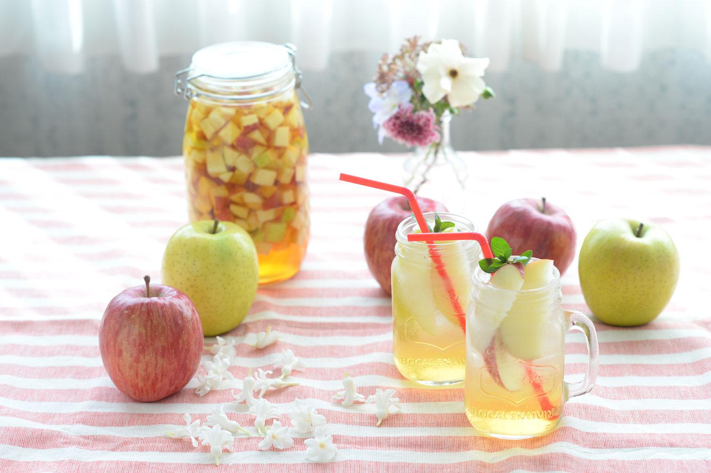 りんごのレシピ りんごと紅茶のビネガードリンク