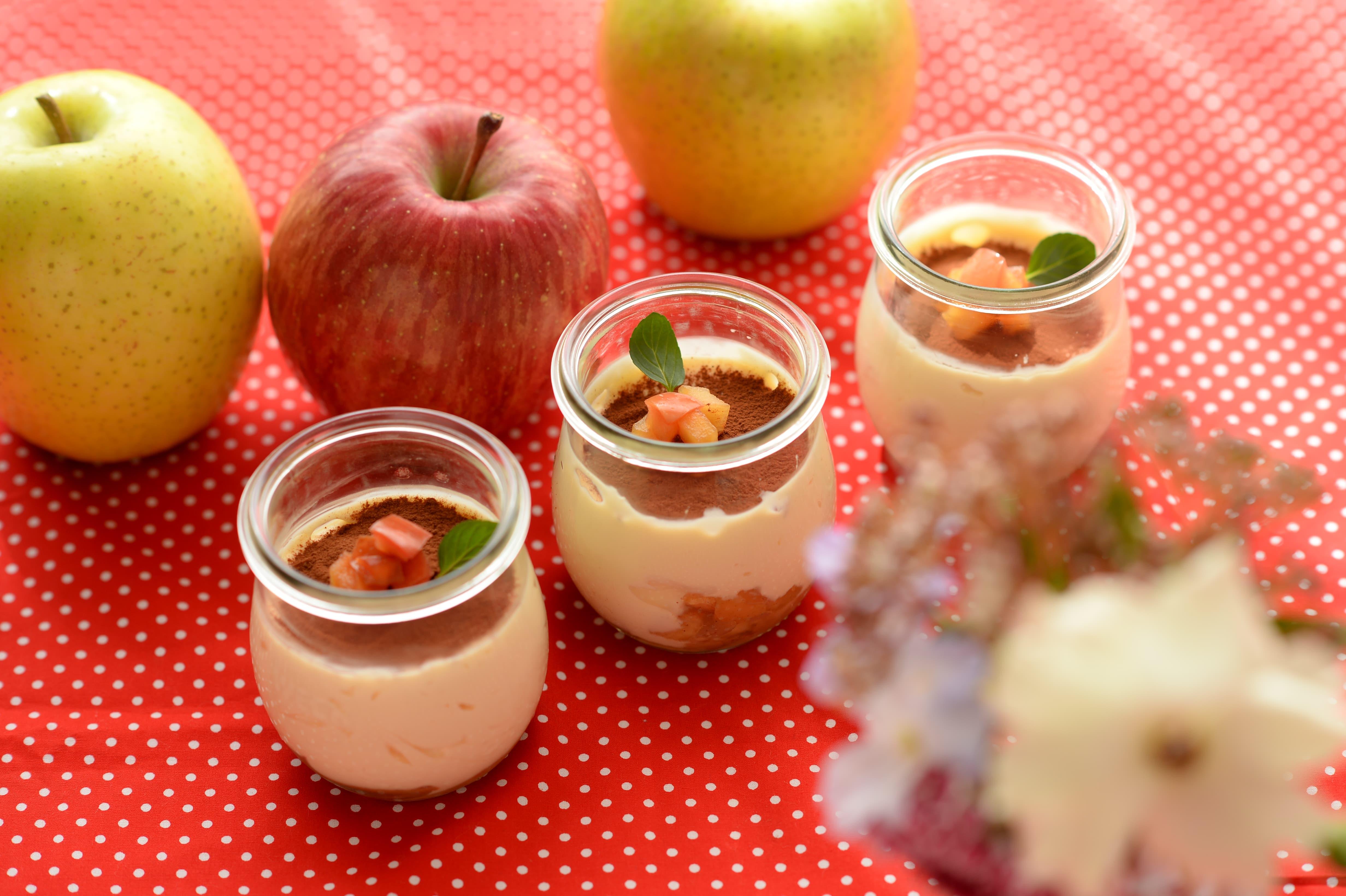 りんごのレシピ はちみつりんごのティラミス風スイーツ