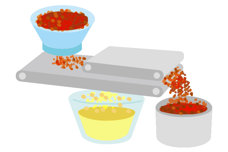 青森りんごジュース工程3 搾汁