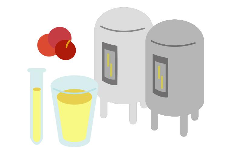 青森りんごジュース工程4 殺菌・冷却・品質検査