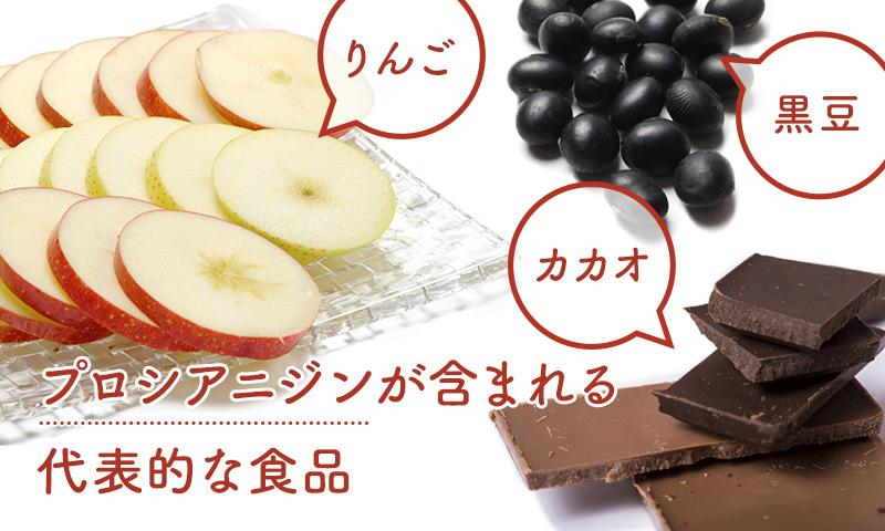 りんごはカカオや黒大豆、シナモン、グレープシードなどと同じくポリフェノールが豊富な食材