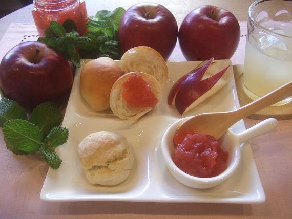 真っ赤なリンゴジャム(冷凍レシピ)