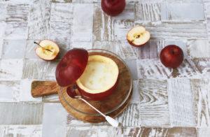 りんごのミルクプリン