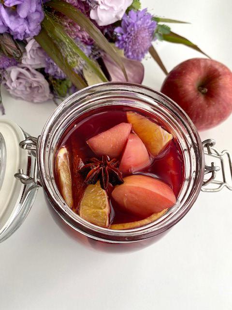 りんごで作るホットワイン