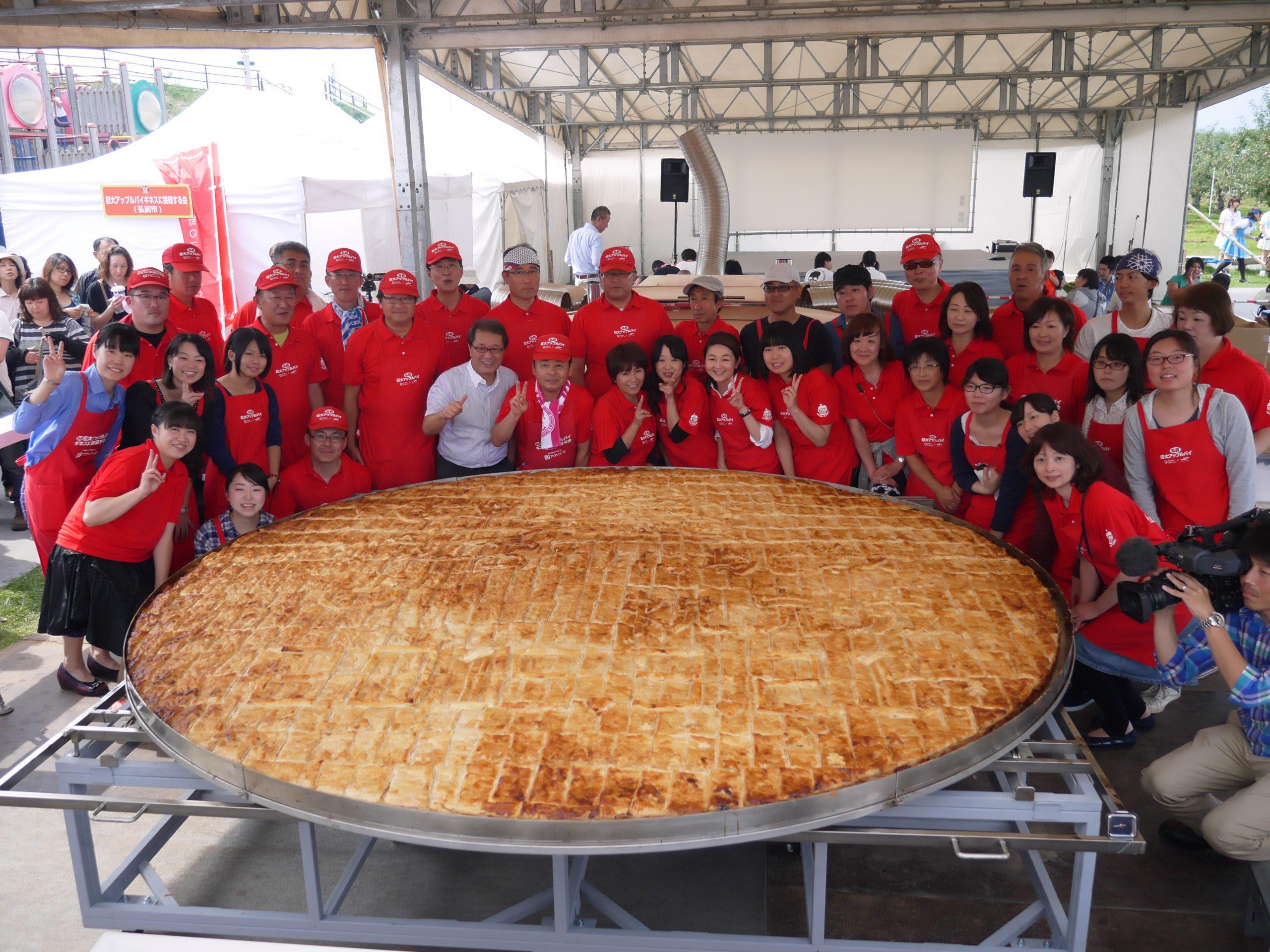 直径3m!栄黄雅の巨大アップルパイ